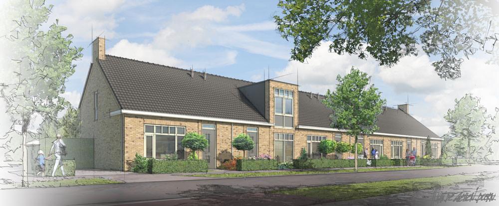 Lommerrijk, 12 geschakelde semi-bungalows